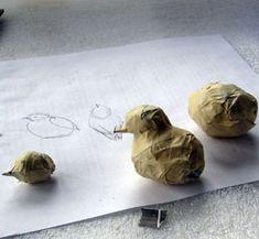 Paper Mache Bluebirds, Step 4