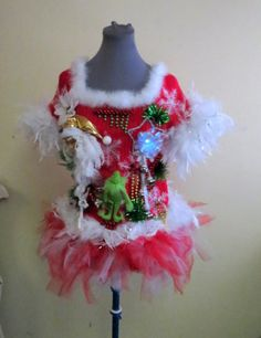 Custom Ugly Christmas Sweater Party Adult by tackyuglychristmas Ugly Sweater Day, Ugly Sweater Contest, Ugly Christmas Sweater Vest, Christmas Sweaters, Tacky Christmas, Christmas Crafts, Holiday Festival, Santa Suits, Walkways
