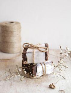 beautifully wrapped fudge
