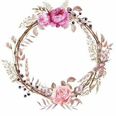 Floral Frames in PNG - Grace Layouts Design, Personalization and Art Creation… - Fitness Motif Floral, Floral Border, Floral Frames, Borders And Frames, Instagram Highlight Icons, Flower Backgrounds, Clipart, Watercolor Flowers, Watercolor Rose Tattoos