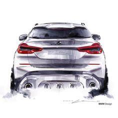2018 BMW X3 official sketch by Calvin Luk @calvin_luk_ #cardesign #car #design #carsketch #sketch #markersketch #chartpak #chartpakmarkers #bmw #bmwx3