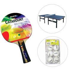 15e3bfc61 Kit Mesa de Ping Pong   Tênis de Mesa - 15 mm + Raquete + Blister de Ping  Pong c  6 bolas - Azul