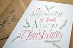 Christmas Greetings Card  A6 It's beginning to by AmysAvenueUK