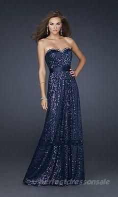 bc4ac3fce01 Sleeveless Dark Navy Prom Dresses Strapless Lace Prom Dresses 02692 Navy Prom  Dresses