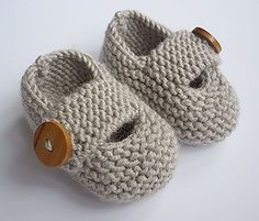 Baby booties knitting pattern for modern and practical baby shoes that will look great on either a boy or a girl. They are knitted entirely in garter stitch (every row knit) on two needles and are extremely quick and EASY to make Instructions are given for 5 sizes - 0-3 months, 3-6 months, 6-9 months, 9-12months and 12+ months You need to be able to knit, increase and decrease SIZES: 0 - 3 months, approx. length 3.75 (9 cms) 3 - 6 months, approx. length 4 (10 cms) 6 - 9 months, approx len...