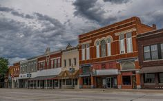 Glenwood Iowa's Main Street - Went to H.S. in this Midwest..town