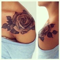beautiful tattoo placement rose on shoulder Tattoomagz.com Tattoo... ❤ liked on Polyvore featuring accessories, body art, tattoos and tatoos