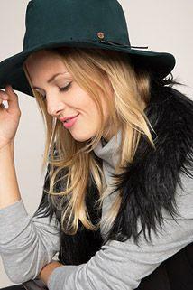 Esprit / Cappello fedora effetto pelle
