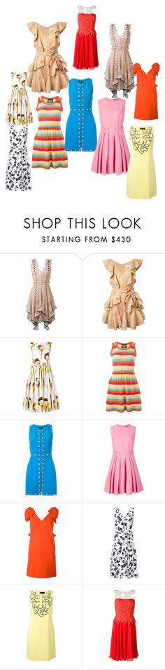 """maxi dresses"" by ramakumari ❤ liked on Polyvore featuring Alexander McQueen, Zimmermann, Dolce&Gabbana, Boutique Moschino, Versus, MSGM, Altuzarra, Blumarine and vintage"