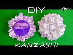 Канзаши МК. Резиночка для волос с нежным цветком / Kanzashi MK. Rubber bands for hair. - YouTube