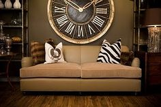 You would have to use a kitchen table to make a clock this big!