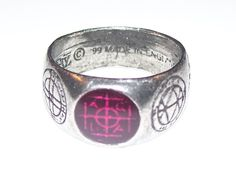 Alchemy Gothic AGLA MAGIC Talisman Ring - MEDIEVAL Sigil Kabbalistic sigillum Ring