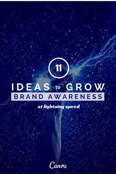 11 Ideas to Grow Brand Awareness at Lightning Speed http://blog.hubspot.com/marketing/14-ideas-to-grow-brand-awareness-at-lightning-speed