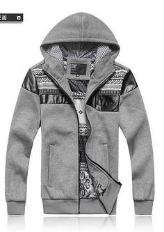 1bde49dfd1431d New Style Men Long Sleeve Zipper with Hat Grey Casual Cotton Hoodies  M L XL XXL XXXL  813SJ-W660g