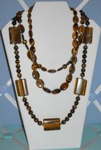 Handcrafted gemstone jewelry, Lady Luck Gems Home. Tiger's Eye necklaces.