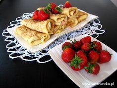 Staropolskie naleśniki według Ćwierczakiewiczowej - Wiszniówka Waffles, Gluten, Breakfast, Ethnic Recipes, Food, Waffle, Hoods, Meals