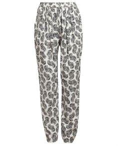 Stella McCartney Feather Printed Silk Trousers