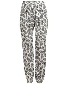 Stella McCartney Feather Printed Silk Trousers