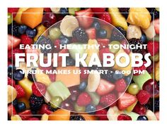 Fruit Kabobs Program flyer for residence hall programs. Are you an RA looking for program ideas? Do you feel creative, but are just too busy to create nice looking program flyers? Check these downloadable flyers out. You can change the text to fit your program and then boom, you are back to your regular life!