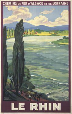 FRANCE - Le Rhin. 1933 Roger Broders #Vintage #Travel