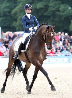 Eva Möller riding Sa Coeur to the gold medal in the 6-year-old world championship. © 2013 Ken Braddick/dressage-news.com