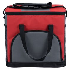 Whether you are catering an outdoor event, planning a day out for your retirement community, or organizing a recreational activity, this Choice brand red insulated cooler and sandwich bag will transport your food and beverage items with ease. The soft, insulated walls help protect food or drinks from damage while keeping cold items cold or hot items hot. Featuring a spacious interior, the cooler can hold 24 cans or a combination of beverages and sandwiches. The interior is easy to clean for…
