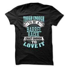 (Tshirt Top Tshirt Popular) Tough Crazy Barrel Racer Coupon Today Hoodies Tee Shirts