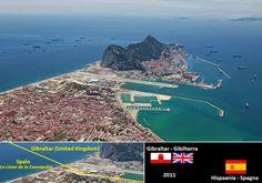 Confini amministrativi - Riigipiirid - Political borders - 国境 - 边界: 2011 ES-GI Hispaania-Gibraltar (Ühendkuningriik) S...