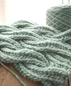 Watery Wavy Brioche Cable Scarf by kcc_138, - free knit pattern. Based on the Reversible Cabled Brioche Stitch Scarf by Saralyn Harvey