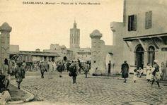 Place de la porte Marrakech - 1922 #Casablanca #Maroc #Morocco