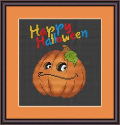 Check out this item in my Etsy shop https://www.etsy.com/listing/550941620/happy-halloween-cross-stitch-pattern