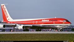 Avianca aircraft at Miami Intl photo Boeing 707, Boeing Aircraft, Aircraft Parts, Best Airlines, Football Memes, Aircraft Pictures, Military Aircraft, Cool Toys, History