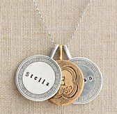 Personalized Token Charm Necklace