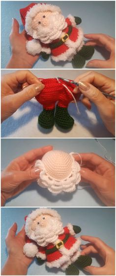 Mesmerizing Crochet an Amigurumi Rabbit Ideas. Lovely Crochet an Amigurumi Rabbit Ideas. Crochet Amigurumi, Crochet Dolls, Crochet Yarn, Free Crochet, Crochet Santa Hat, Christmas Crochet Patterns, Holiday Crochet, Diy Christmas Ornaments, Christmas Holidays