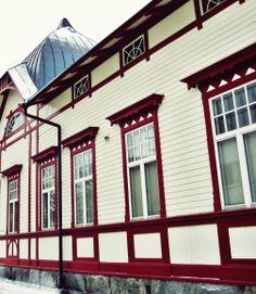Kuopion vanhin hotelli palvelee matkalaisia edelleen uskollisesti. Kuopio, helmikuu 2014.