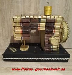 """Nähmaschine aus Pralinen Chocolates sewing machine handmade You are looking for a fancy gift for a tailor for a birthday or as a big thank you, then you have made the right choice with this """"chocolates sewing machine"""". It is unique … Xmas Gifts, Diy Gifts, Handmade Gifts, Presents For Men, Gifts For Him, Diy Birthday, Birthday Gifts, Friend Birthday, Holiday Break"""