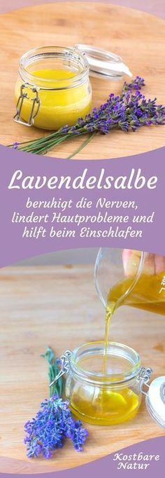 Aus den lila Blüten des Lavendels lässt sich im Handumdrehen eine aromatische … From the purple flowers of lavender can be conjured up in an instant an aromatic ointment that can relax not only your body but also your nerves. Manicure Natural, Goji, Diy Beauté, Manicure E Pedicure, Belleza Natural, Natural Cosmetics, The Conjuring, The Body Shop, Health Remedies