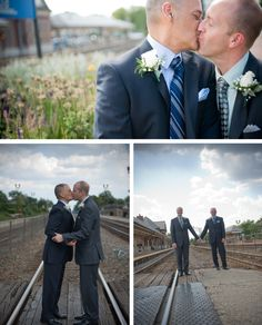 John and Ricky's Chicago Gay Wedding (Photographers: Gina DeConti and Amy Beth Harkess)