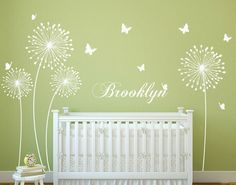 Hey, I found this really awesome Etsy listing at https://www.etsy.com/listing/186873599/dandelion-wall-decal-with-butterflies