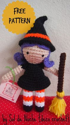 http://soldenochedecocrochet.blogspot.com.ar/2015/10/free-pattern-little-witch.html