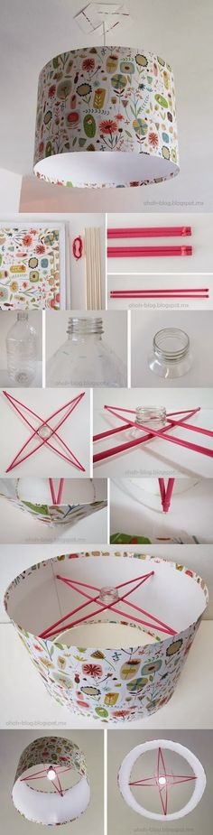How to make beautiful lampshade | DIY & Crafts Tutorials --> http://www.ohohblog.com/2012/11/diy-lampshade-pantalla.html //Manbo