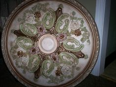 Items similar to hand painted ceiling medallion, painted ceiling medallion, gold ceiling medallion, custom medallion on Etsy Gold Ceiling, Ceiling Trim, Ceiling Rose, Decorative Paint Finishes, Art Nouveau Furniture, Round Chandelier, French Home Decor, Honey Colour, Victorian Decor