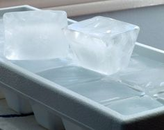 Sometimes I feel like I need to leave this recipe out for my husband.  ICE:  2 cups water (approximately), 2 tablespoons water (additional if needed) Directions:  If there are any ice cubes left in the tray, empty them out into the ice bin. -Take the trays over to the sink and fill them with water.  -Place the water filled trays back in the freezer.  -Shut the door to the freezer.