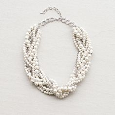 Kylie Braided Pearl Necklace