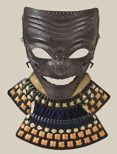 A russet iron somen (full face mask) Edo period, 19th century, Japan