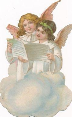 .:Angels-Victorian die cut-Victorian scrap