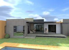 Fachadas de casas modernas de una planta