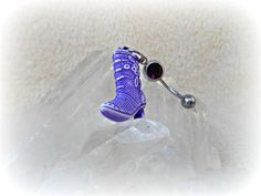 Purple Cowboy Boot Belly Ring Trending Belly by Lusmysticjewels