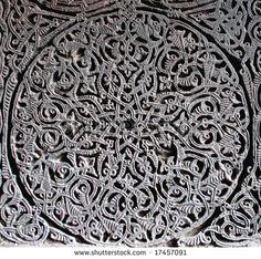 medieval armenian ornament on cross-stone