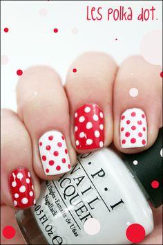tuto nail art // Les polka Dots